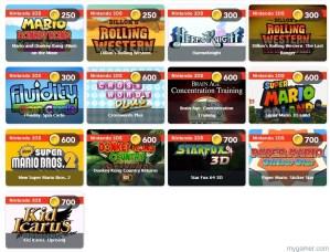 Club Nintendo Games
