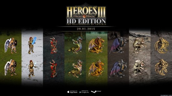 See the difference Heroes of Might and Magic III HD PC Review with Live Stream Heroes of Might and Magic III HD PC Review with Live Stream H3HD creatures comparison SD1999 vs HD2014 1024x576