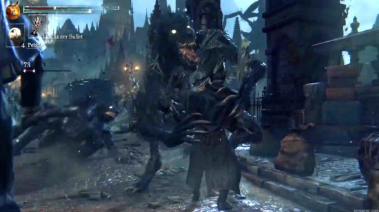 Expect to fight all sorts of creatures Bloodborne Preview Bloodborne Preview Bloodborne fight 1024x576