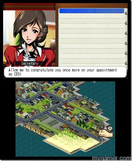 The player becomes the CEO on the very first screen A-Train 3D: City Simulator 3DS Review A-Train 3D: City Simulator 3DS Review atrain 01 thumb