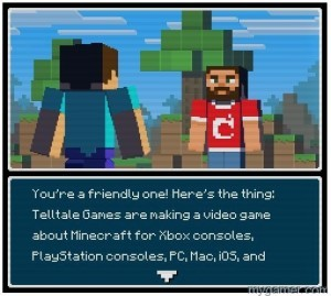 Info Quest II is a mini Minecraft game to preview Story Mode Minecraft: Story Mode Preview Minecraft: Story Mode Preview info quest ii 300x269