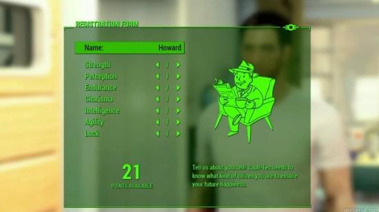 Fallout 4 stat screen
