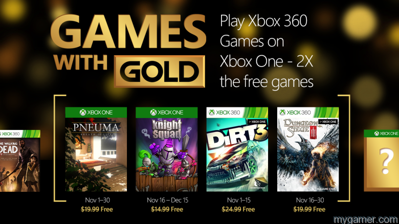 Xbox Games with Gold NOv 2015