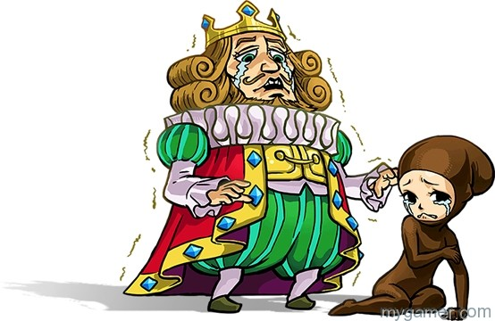 The King reminds me of King of Cosmos from Katamari Legend of Zelda: Tri Force Heroes 3DS Review Legend of Zelda: Tri Force Heroes 3DS Review LoZ Tri Force Heroes King Prince