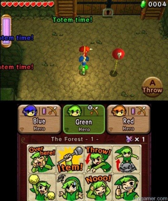 Link stacking is a must Legend of Zelda: Tri Force Heroes 3DS Review Legend of Zelda: Tri Force Heroes 3DS Review LoZ Tri Force TotemTime