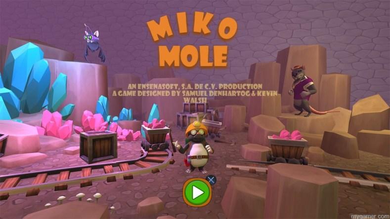 Miko Mole myGamer Visual Cast Awesome Blast! Miko Mole (PS4) Miko Mole banner