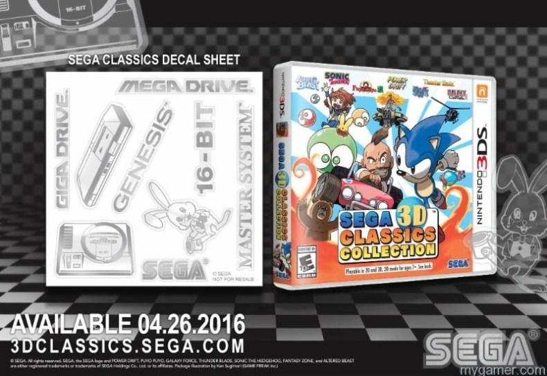 Sega Classics Decal 3DS
