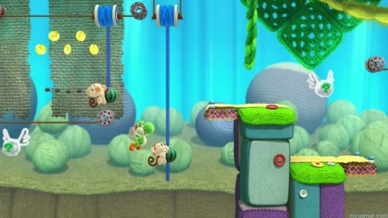 The Monkeys and watermelon seeds return Yoshi's Woolly World Wii U Review Yoshi's Woolly World Wii U Review WiiU Yoshi sWoollyWorld 16 Course10