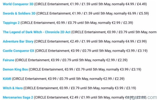 Circle3DSSaleApr16 circle entertainment celebrates 10 year anniversary with 3ds discounts on european eshop Circle Entertainment Celebrates 10 Year Anniversary With 3DS Discounts on eShop Circle3DSSaleApr16