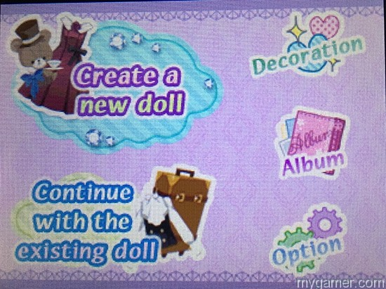 These are your options of gameplay Doll Fashion Atelier 3DS eShop Review Doll Fashion Atelier 3DS eShop Review Doll Fashion Atelier MainMenu