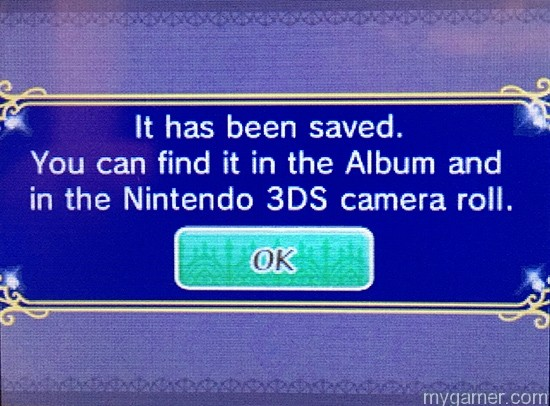 Pics can be viewed from the 3DS camera.