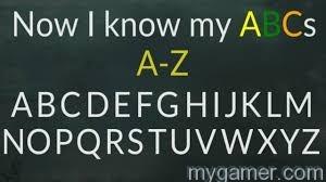 Now I Know My ABCs blackboard