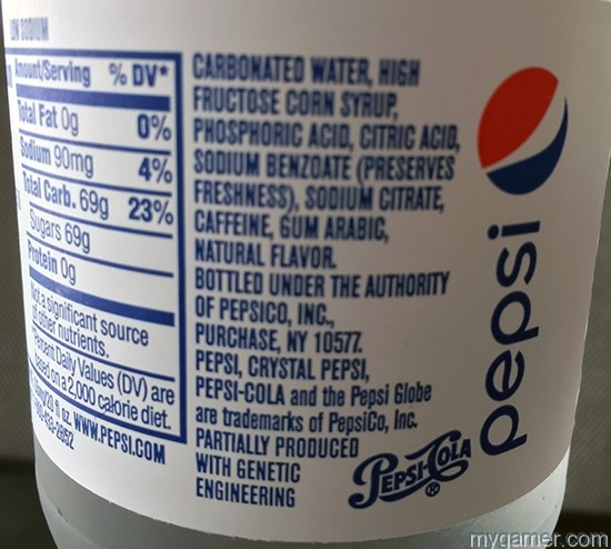 Mmmm taste that acid... Gamer's Gullet – Crystal Pepsi 2016 Review Gamer's Gullet – Crystal Pepsi 2016 Review Crystal Pepsi Chemicals