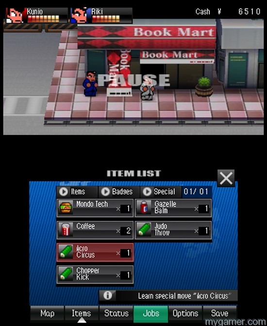 river-city-tokyo-rumble-abilities River City: Tokyo Rumble 3DS eShop River City: Tokyo Rumble 3DS eShop Review River City Tokyo Rumble Abilities