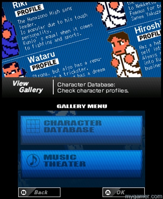 You can learn about each character in the Gallery