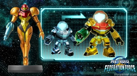 Scanning this amiibo gives the player a nice, worth-while bonus Metroid Prime Federation Force 3DS Review Metroid Prime Federation Force 3DS Review Metroid Federation Force amiibo
