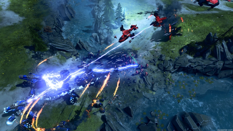 Halo Wars 2 Preview Halo Wars 2 Preview Halo Wars 2 Preview Halo Wars 2 Multiplayer Clash at the Water 1920x1080