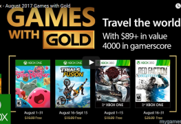 Games with Gold Aug 2017