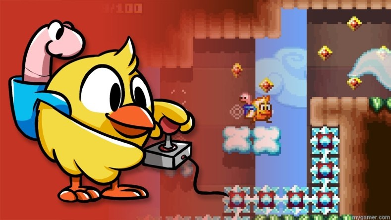 chicken wiggle now available on 3ds eshop Chicken Wiggle Now Available on 3DS eShop Includes Level Editor Chicken Wiggle banner