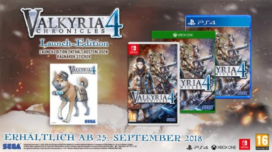 valkyria chronicles 4 gets pre-order bonus Valkyria Chronicles 4 gets pre-order bonus Valkyria Chronicles 4 Launch Edition