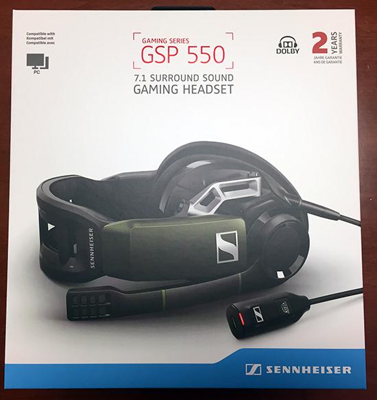 sennheiser gsp 550 with 7.1 surround sound headset (pc) review Sennheiser GSP 550 with 7.1 Surround Sound Headset (PC) Review Sennheiser GSP550 Headset box