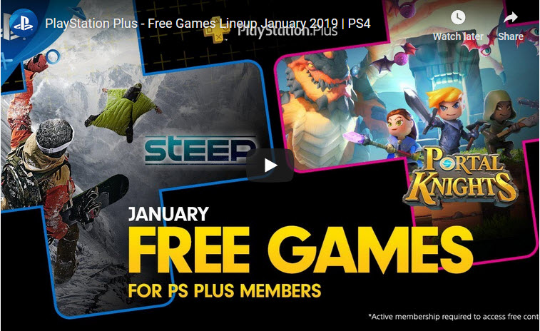 playstation plus: free games for january 2019 PlayStation Plus: Free Games for January 2019 PS Jan 2018 Free