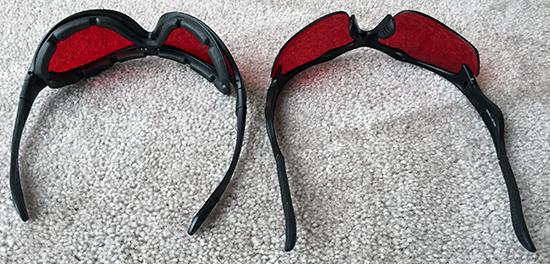 Safety Blue Sleep Savior Glasses upside d