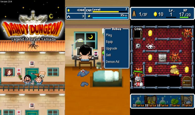 Dandy Dungeon: Legend of Brave Yamada (Switch) Review Dandy Dungeon