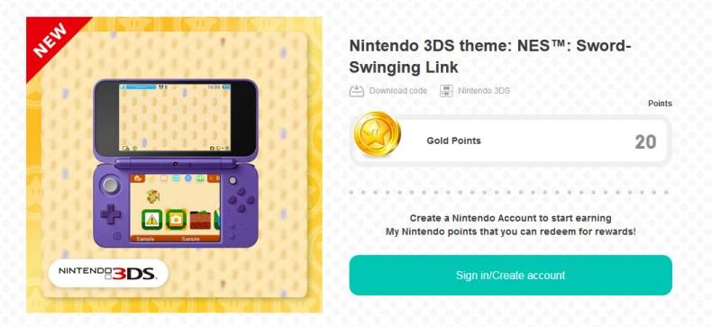 Nintendo 3DS theme: NES: Sword-Swinging Link walkthrough 3DS theme NES Sword Swing Link