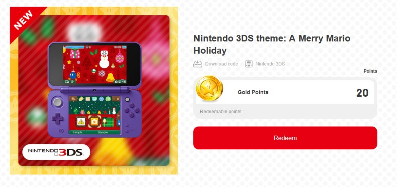 3DS Theme A Merry Mario Holiday