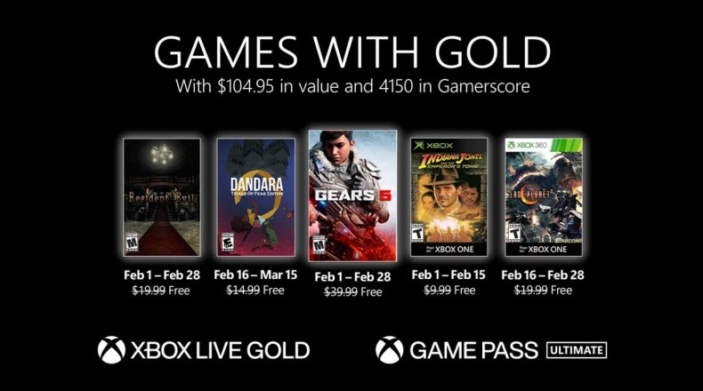 Xbox Games with Gold Feb 2021