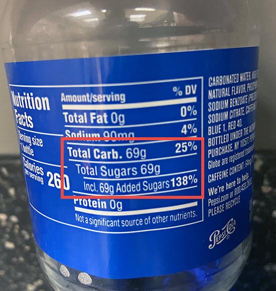 Pepsi Blue label