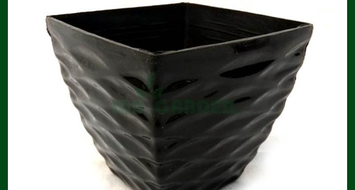 "-Stylish Square Planter - (4.25""X4.25""X4"") - Black"