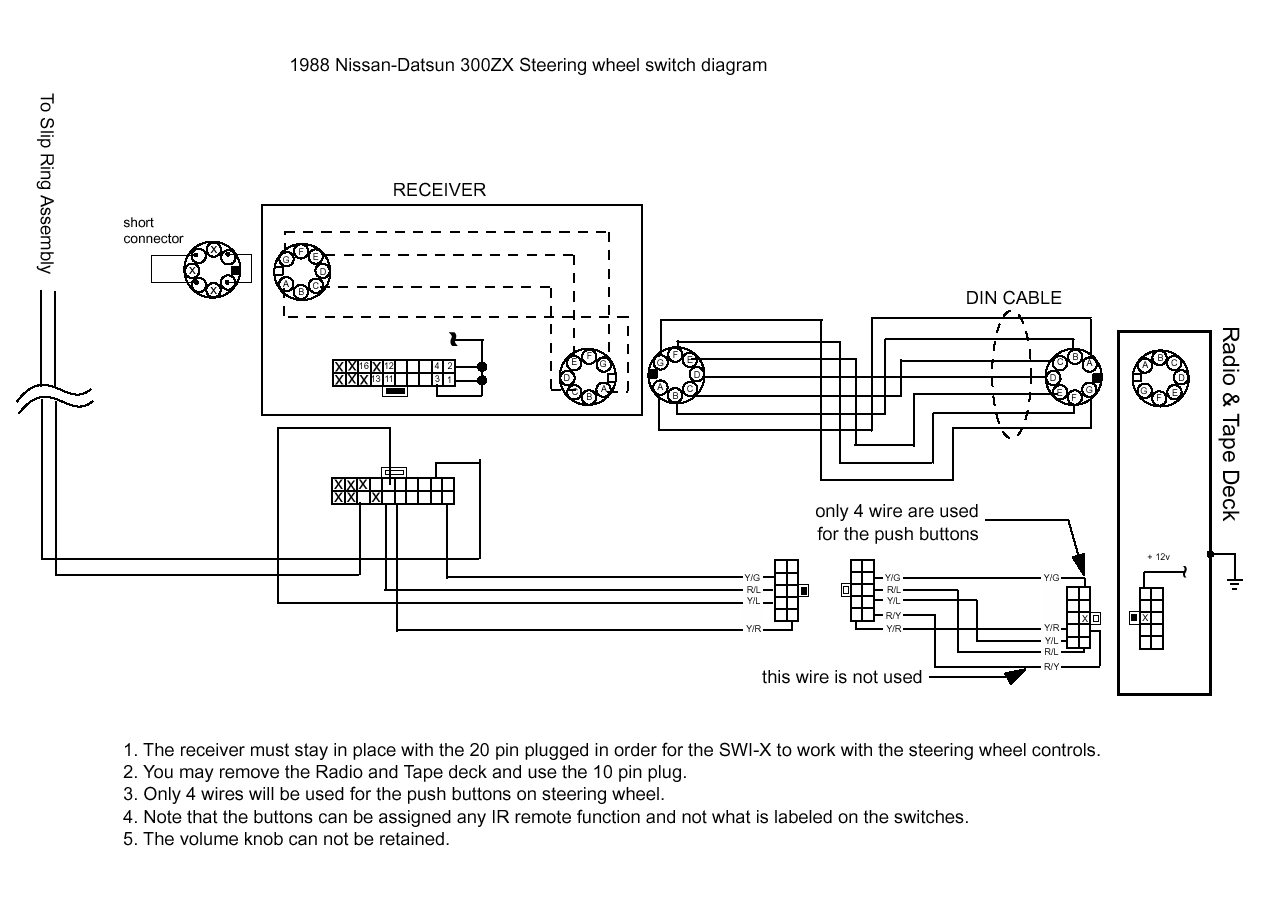 swi z 1988 300zx Steering Wheel Switch?resize=665%2C476 bazooka wiring diagram bazooka installation diagram, tower bazooka el8a wiring harness at couponss.co