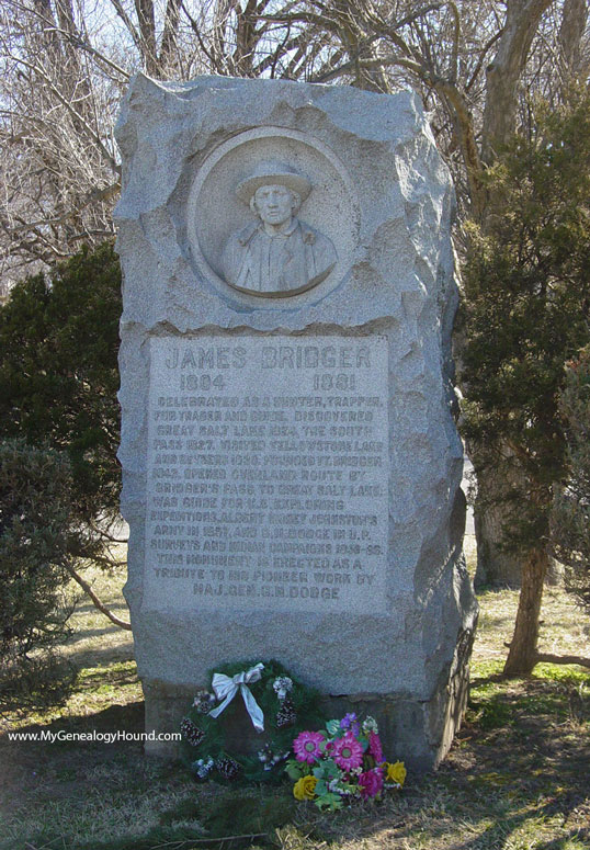 Jim Bridger Tombstone And Grave Independence Missouri
