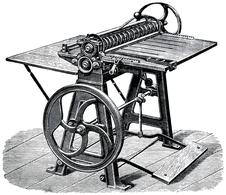 Oscar Friedheim card cutting and scoring machine