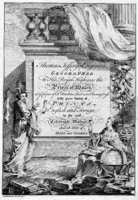 Trade card of Thomas Jeffreys, 1750