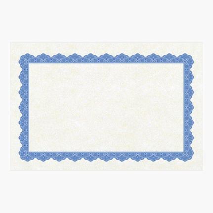 "Copen Blue Certificates 8.5""x5.5"" Mygeoprint Custom Printing"