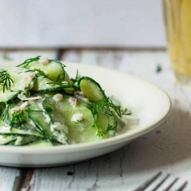 Cucumber Salad with Sour Cream