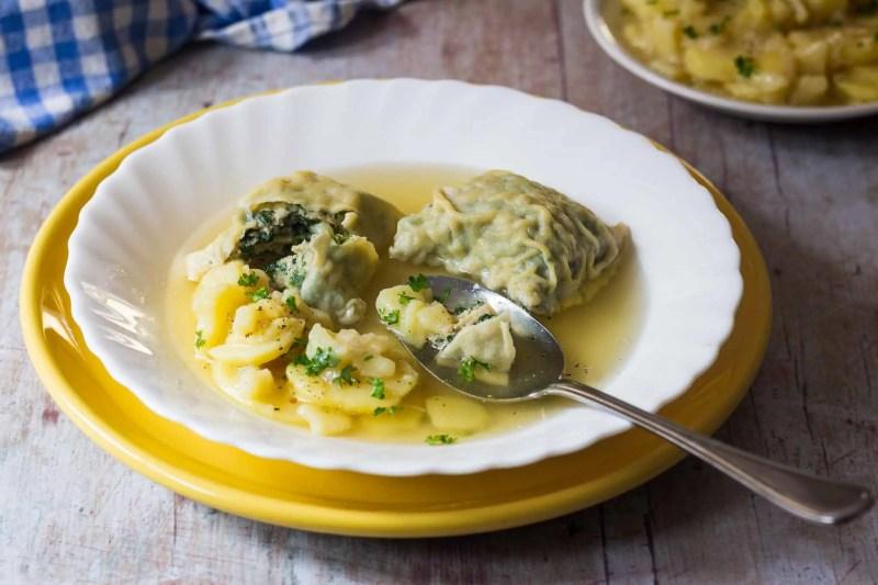 German Soup Dumplings (Maultaschen)