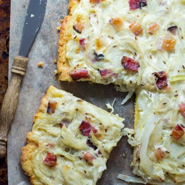German onion cake