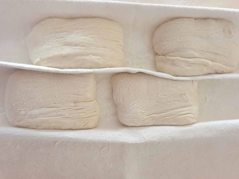 Proofing the rolls in a couche