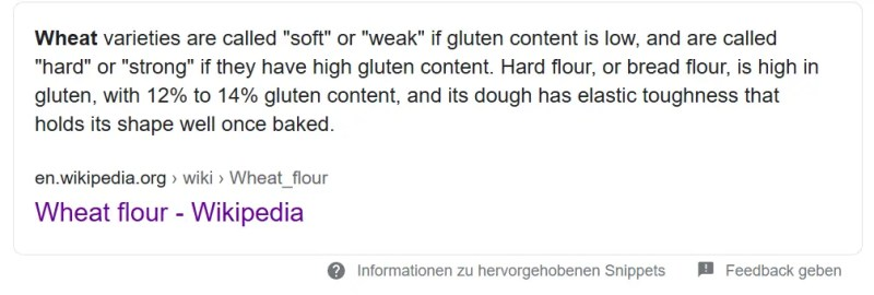 wikipedia definition of strong flour
