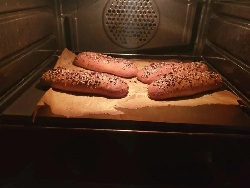 Spelt and Emmer Breadsticks after baking