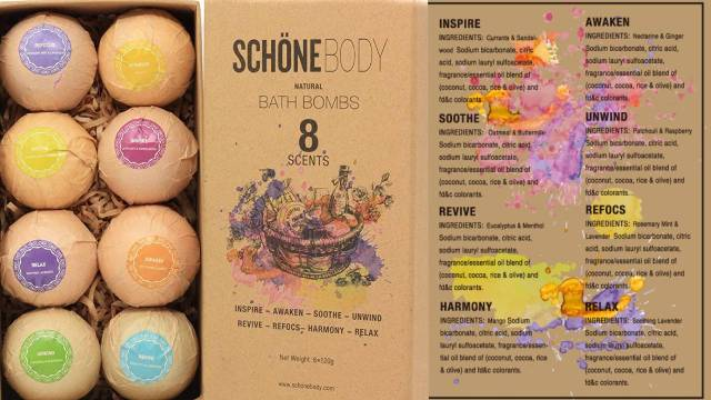 Schone Bath Bombs Gift Set