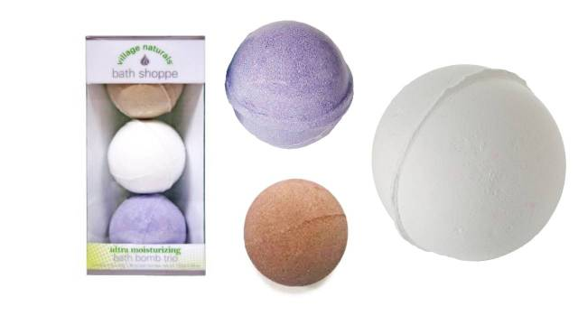 Village Naturals Bath Shoppe Bath Bomb Trio