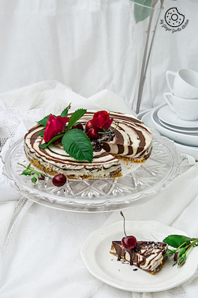 Zebra Cheesecake Recipe  (No-Bake | Gluten Free)