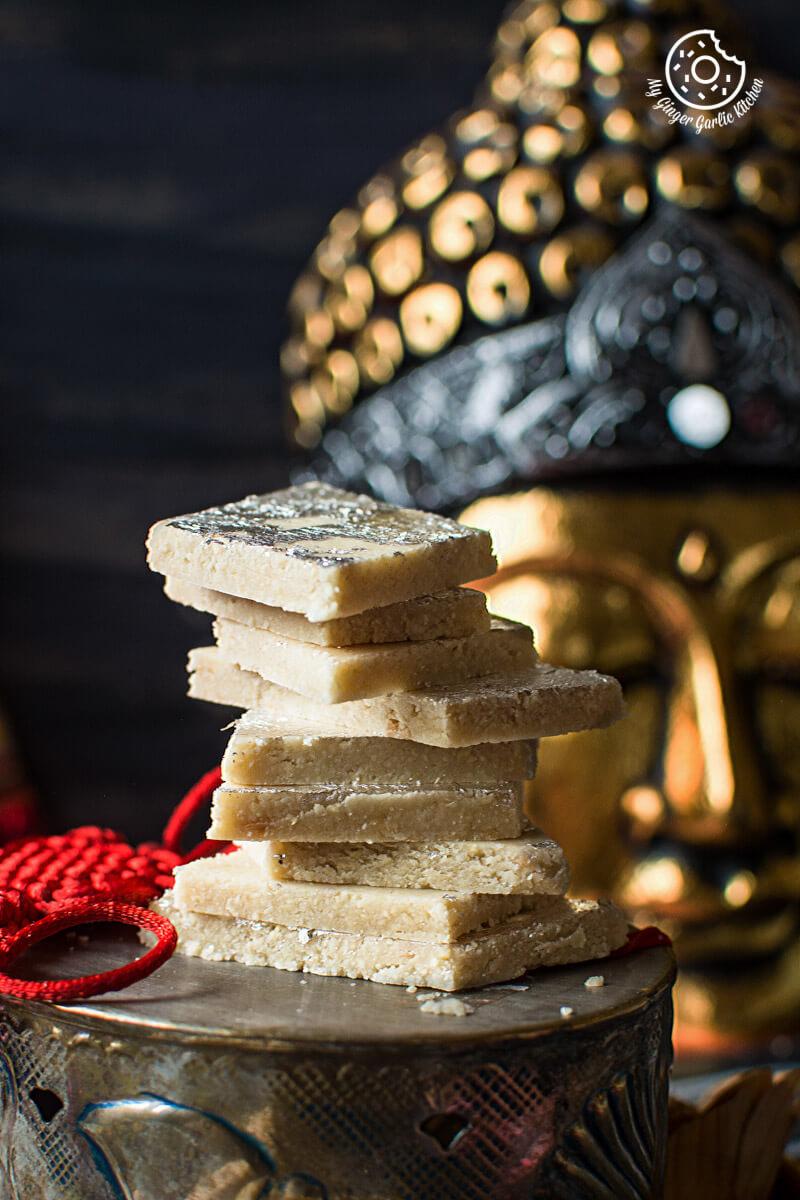 Kaju Katli Recipe | Kaju Burfi | How to Make Kaju Katli | mygingergarlickitchen.com/ @anupama_dreams
