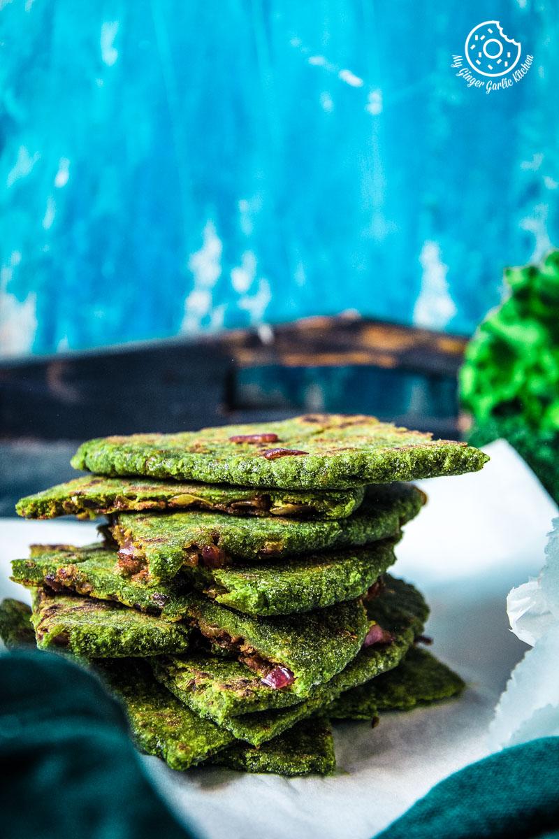 How to make Oats Paratha | Oats Green Paratha - 2 Ways | Oats Onion Paratha | | mygingergarlickitchen.com/ @anupama_dreams