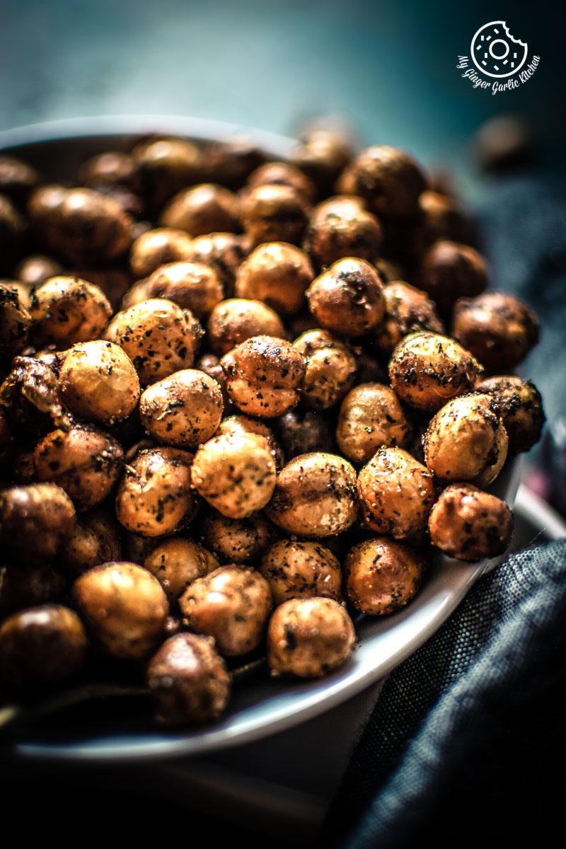 Crispy Fried Chana Recipe | Crunchy Chana Masala | Crunchy Crispy Chickpeas | mygingergarlickitchen.com/ @anupama_dreams